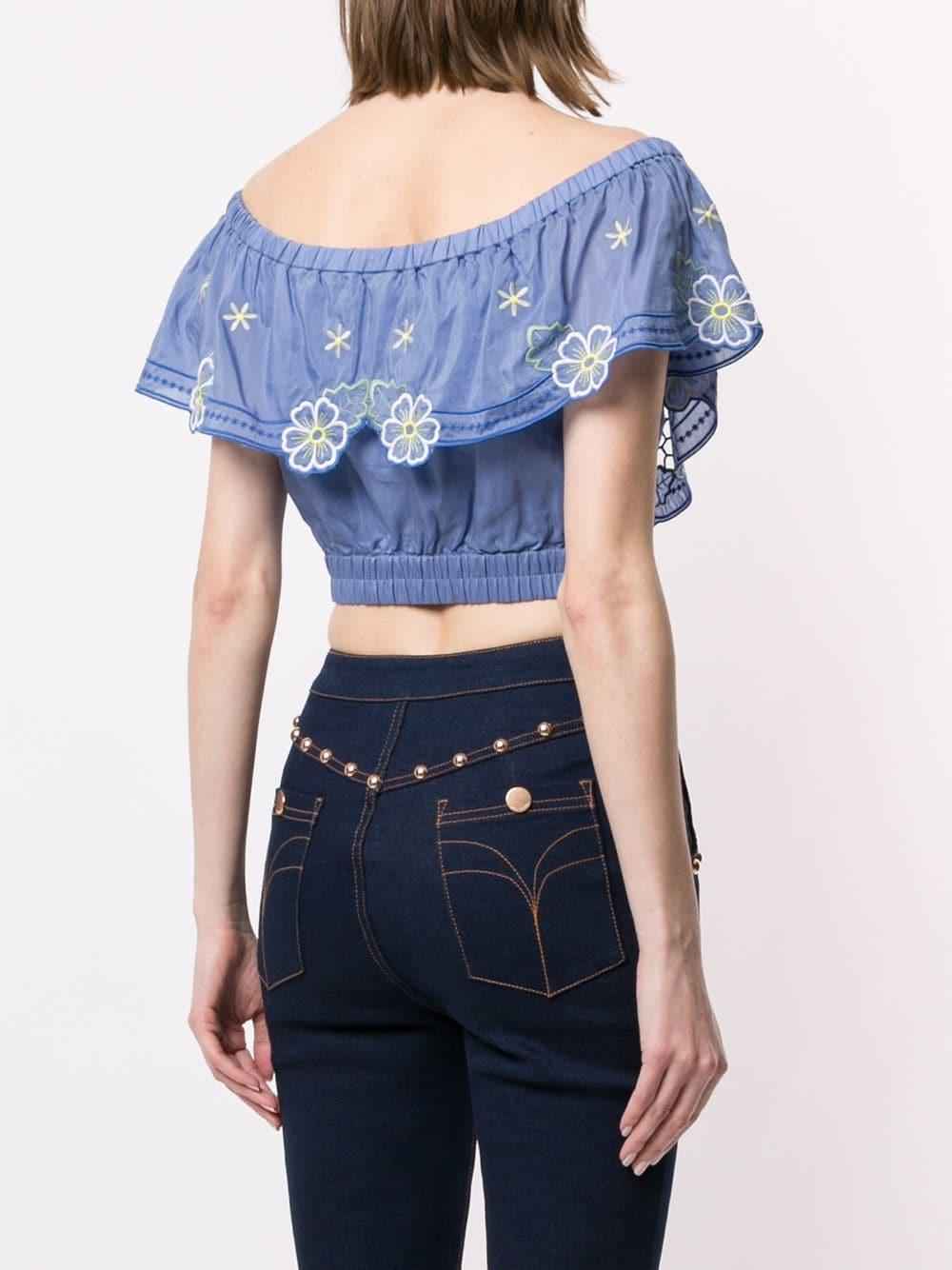 7458c062a50 Lyst - Alice McCALL Honeycomb Daisy Crop Top in Blue