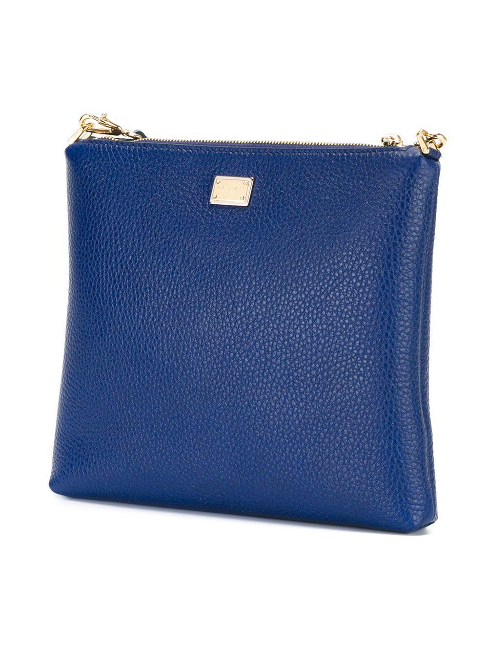 2c9bd3518e44 Lyst - Dolce   Gabbana Family Patch Crossbody Bag in Blue
