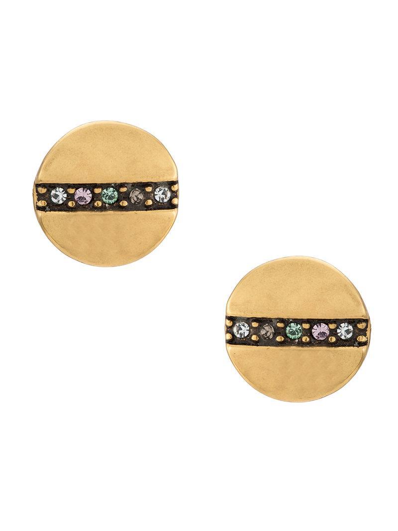 strass embellished drop earrings - Metallic Camila Klein b08JPijN7y