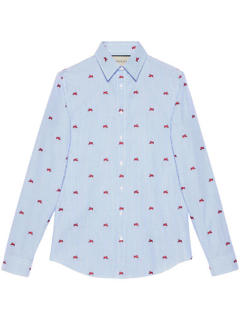 dbfd768e Gucci - Blue Panthers Fil Coupé Shirt for Men - Lyst. View fullscreen