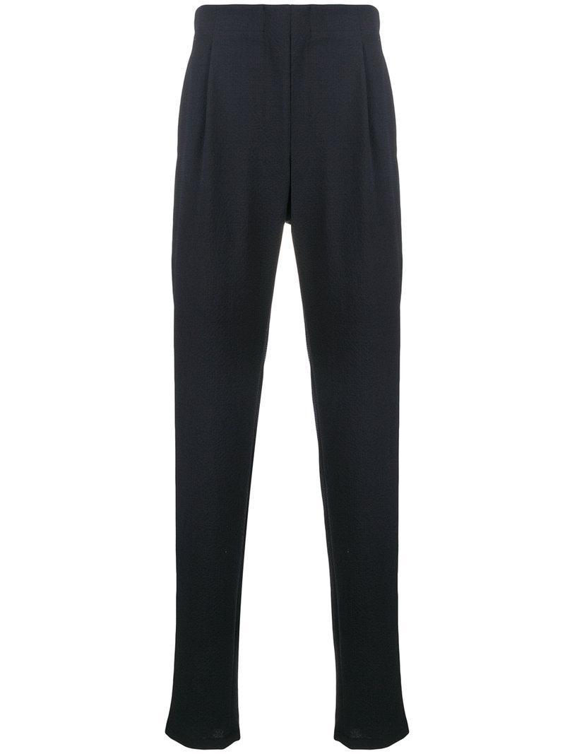 classic tailored trousers - Blue Giorgio Armani ayogH