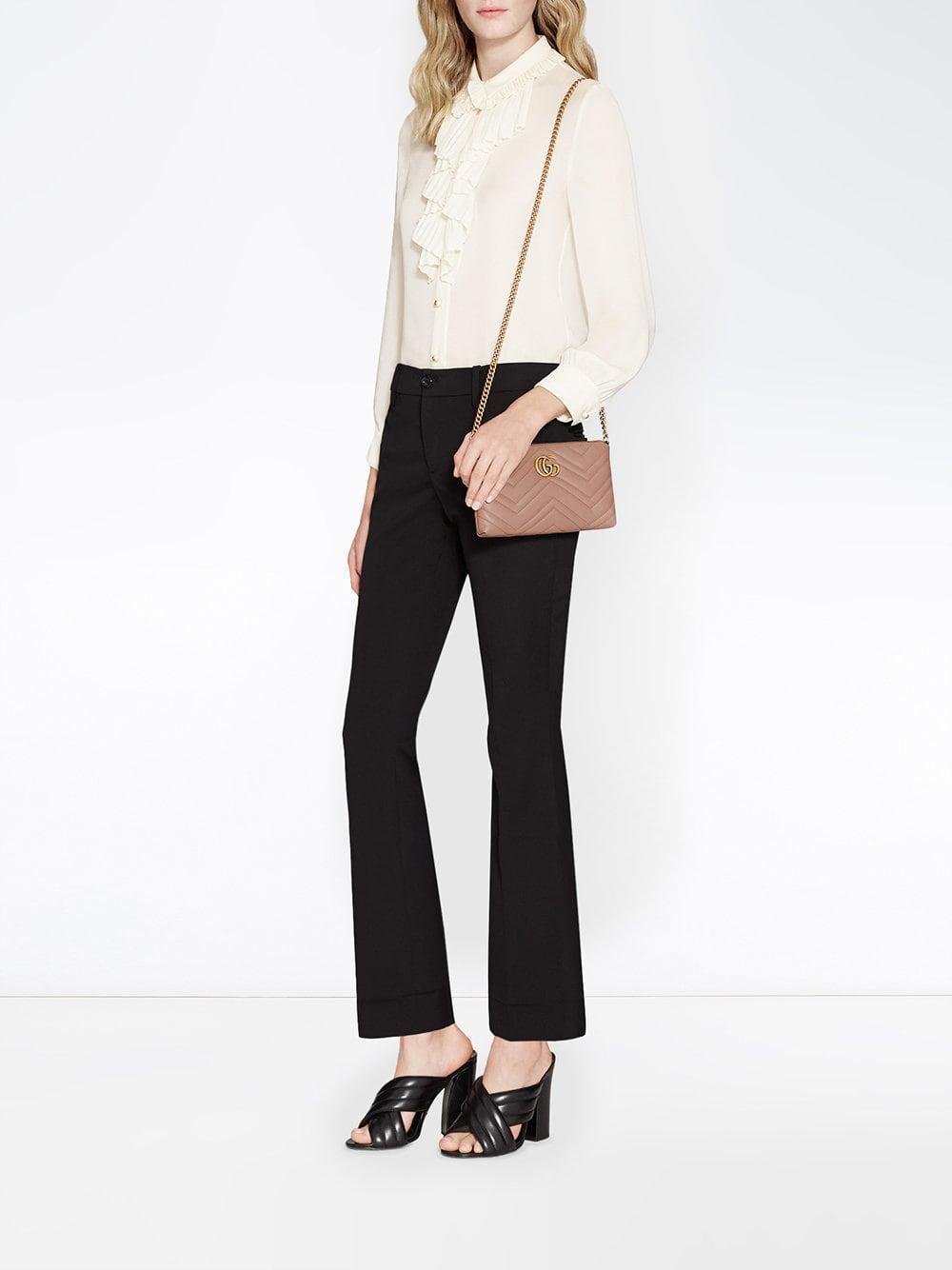 96e67a27baee Gucci - Multicolor GG Marmont Mini Chain Bag - Lyst. View fullscreen