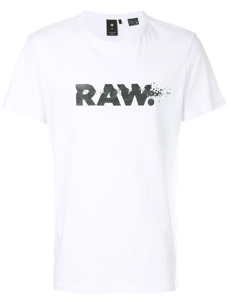 G-Star RAW Raw Print T-shirt in White for Men - Lyst