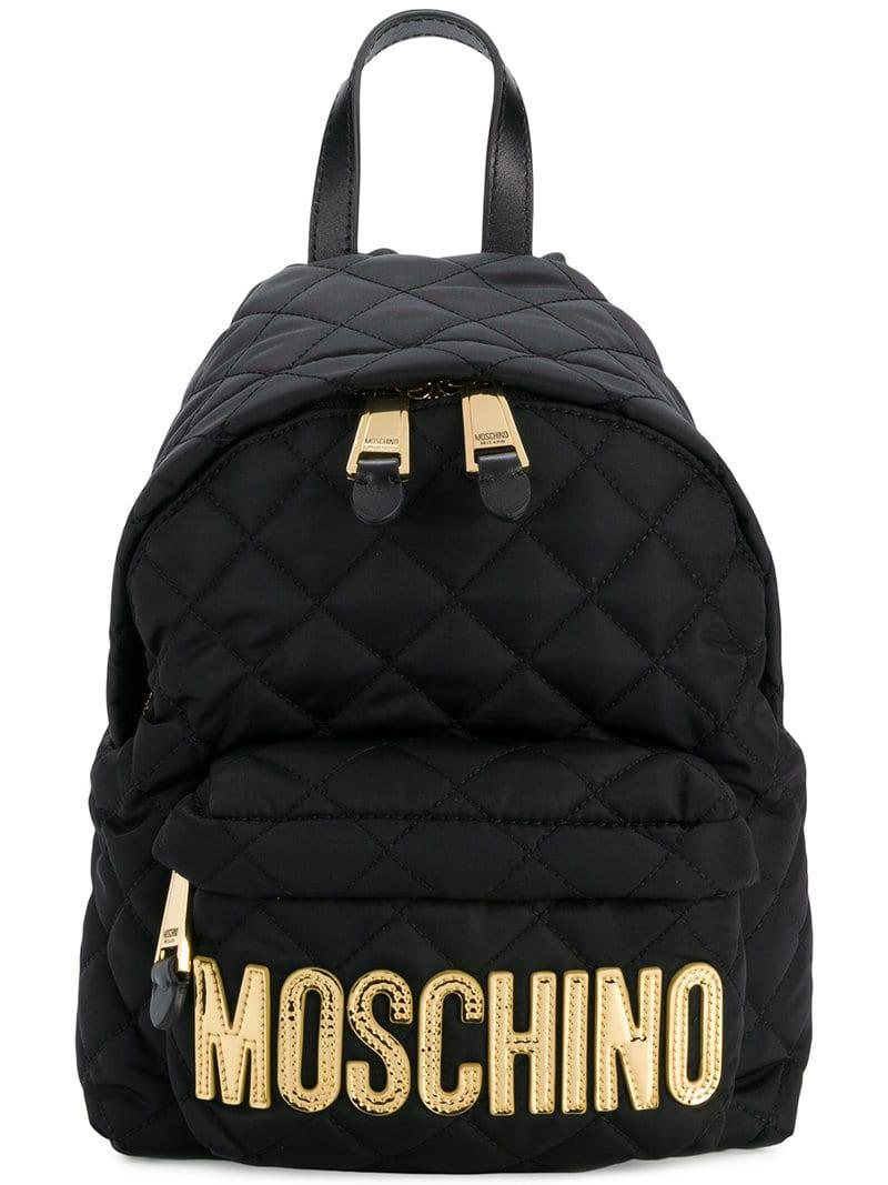 ef3f285181 Mochila acolchada mediana Moschino de color Negro - Lyst