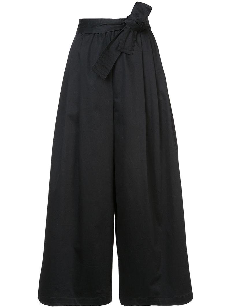 cropped flared trousers - Black Tome z4mES5