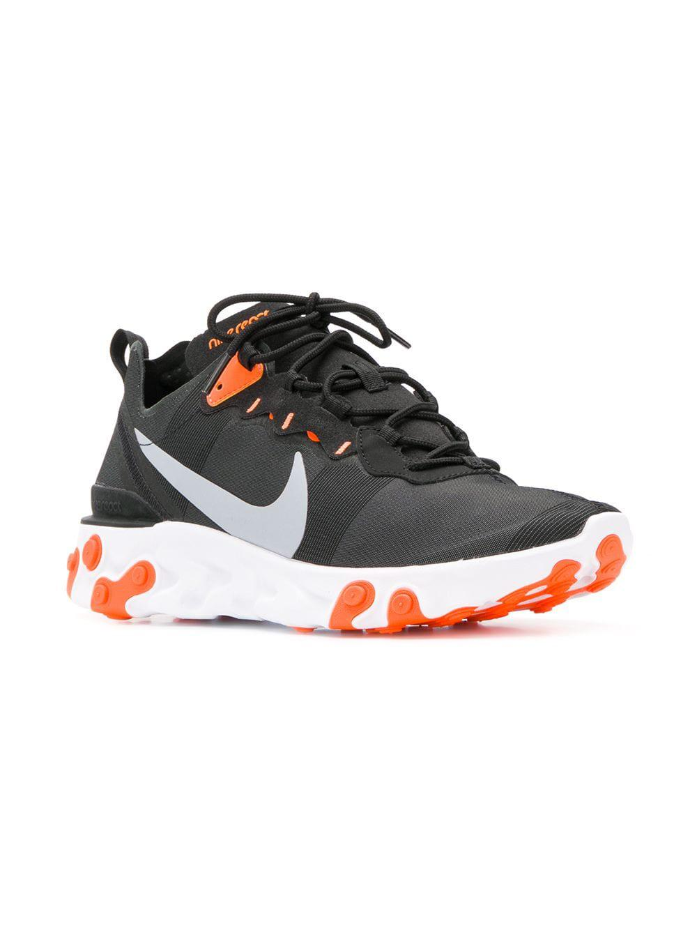 16d278912e09 Lyst - Nike React Element 55 Trainers in Black for Men