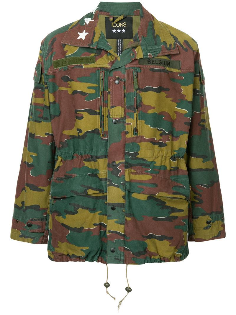 e807856c982df Icons - Green Camouflage Military Jacket for Men - Lyst. View fullscreen