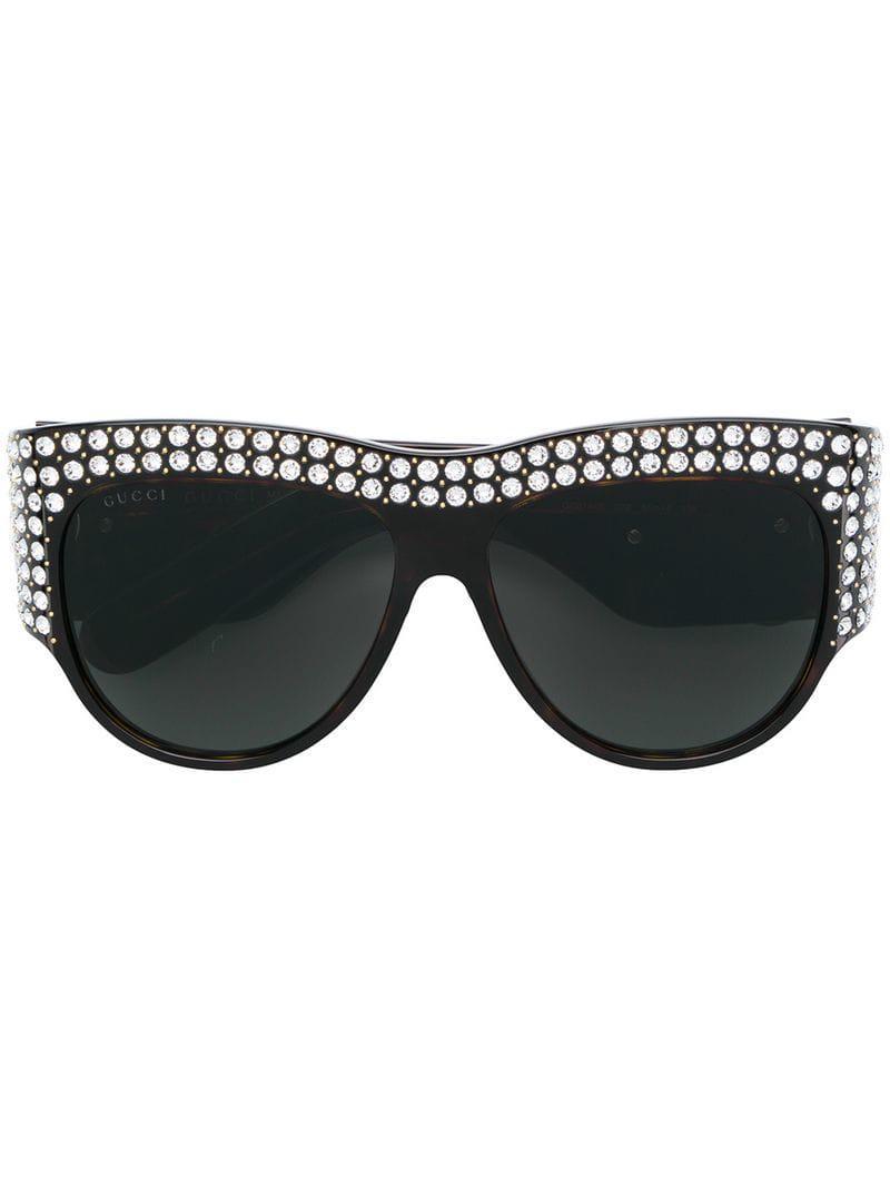 f5a91c26da Gucci Oversized Sunglasses in Brown - Lyst