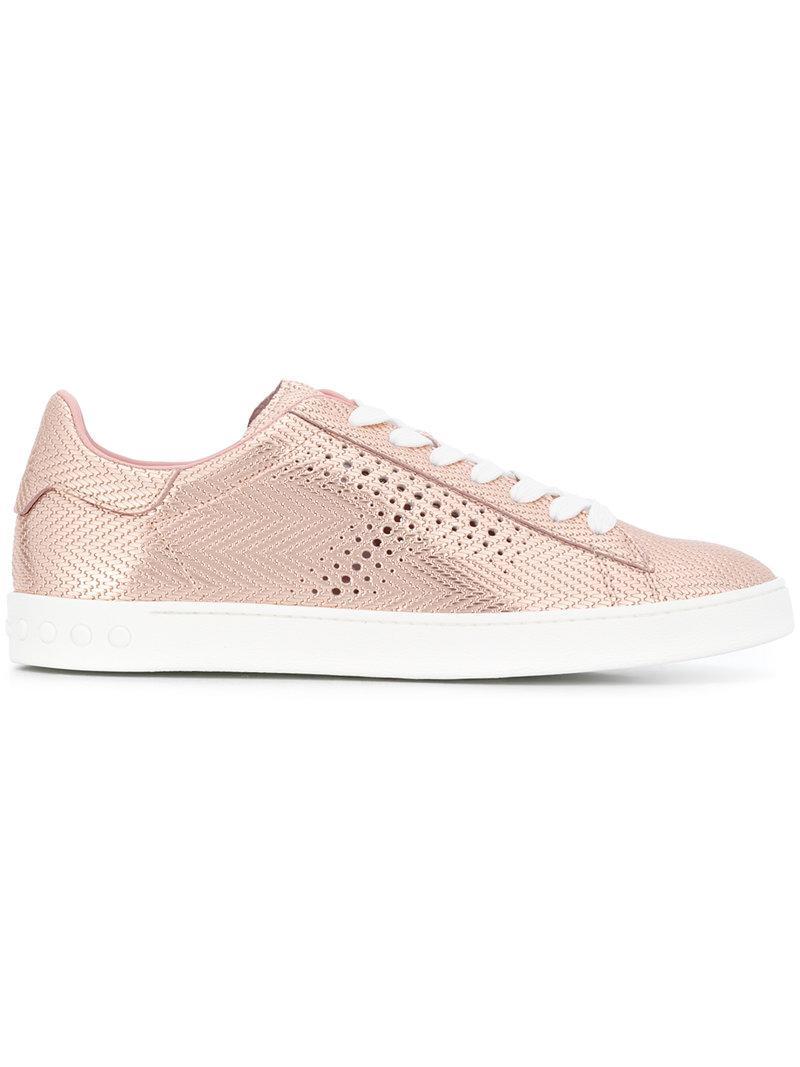textured sneakers - Pink & Purple Tod's HUVLqj