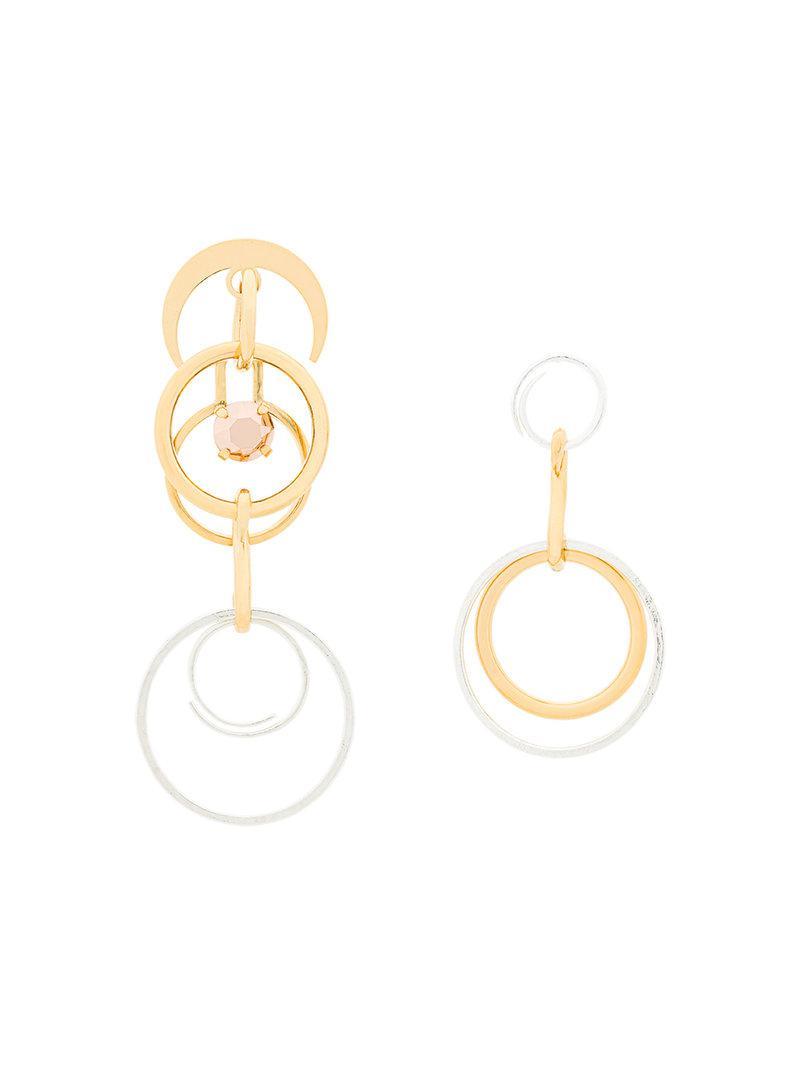Wouters & Hendrix pearl and ruby stud earrings - Metallic h5Tc4