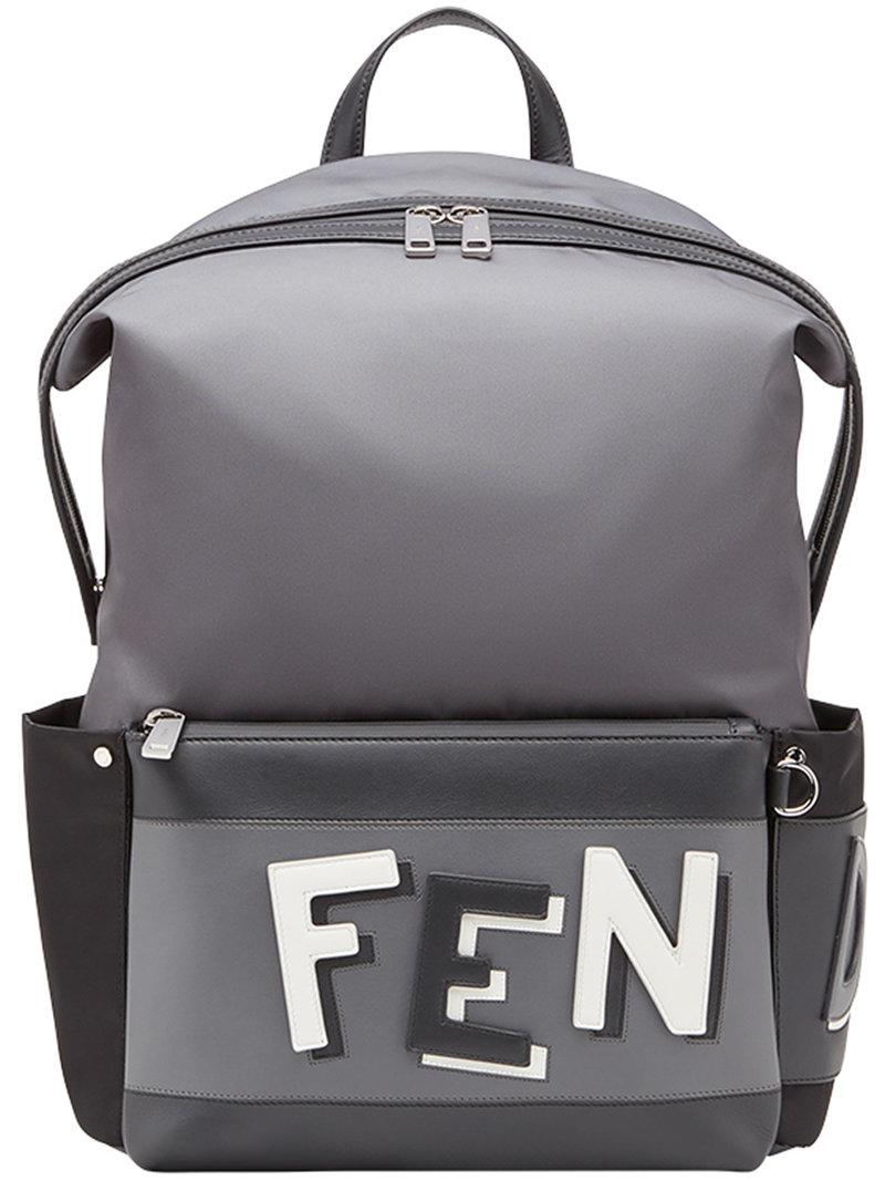 c2d64fb5ff46 Lyst - Fendi Collage Printed Backpack in Gray for Men - Save 8%