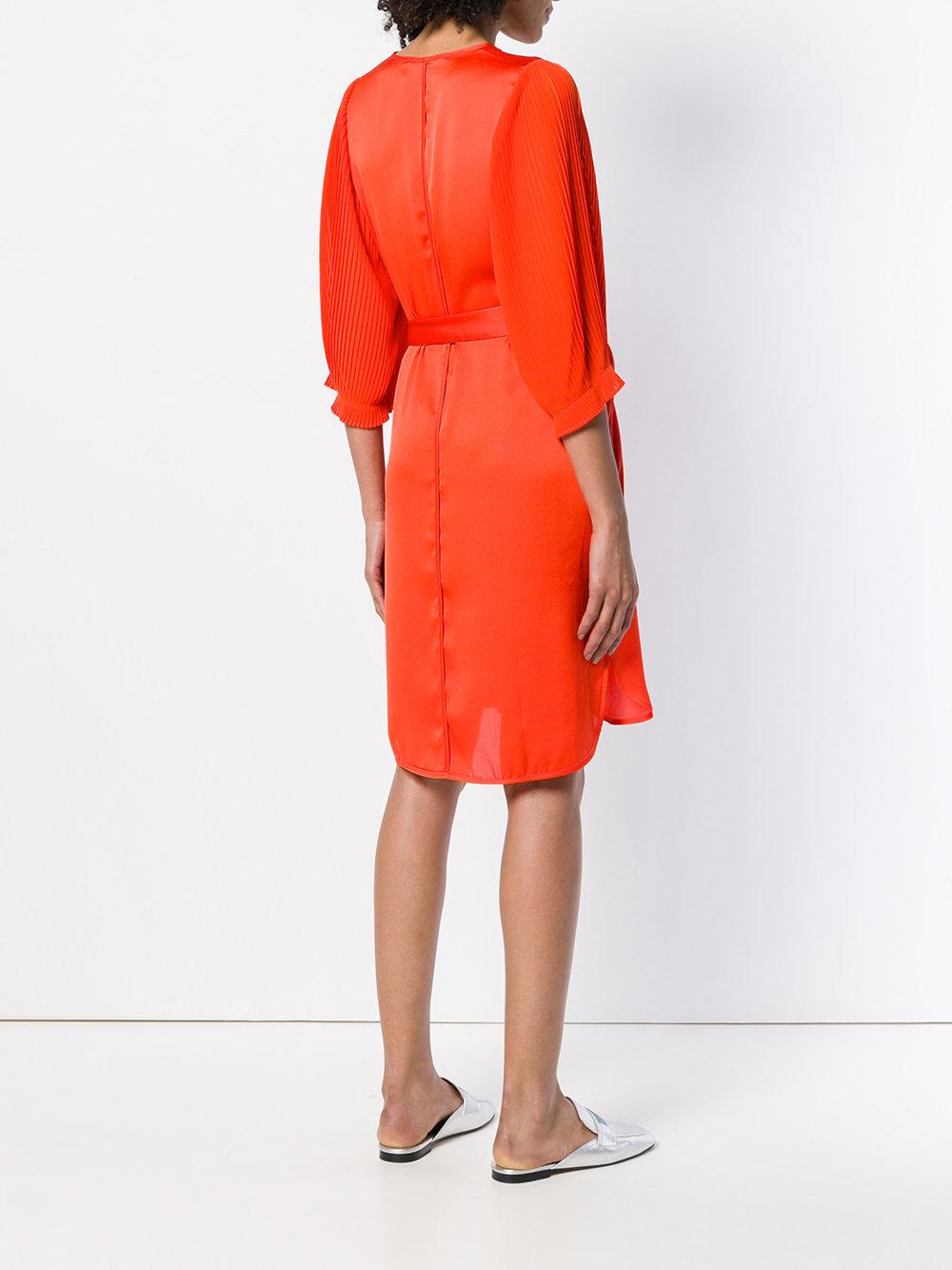 Buy Cheap For Sale Sale Genuine belted V-neck dress - Yellow & Orange By Malene Birger Low Shipping Online Discount Cheap eCuee1U