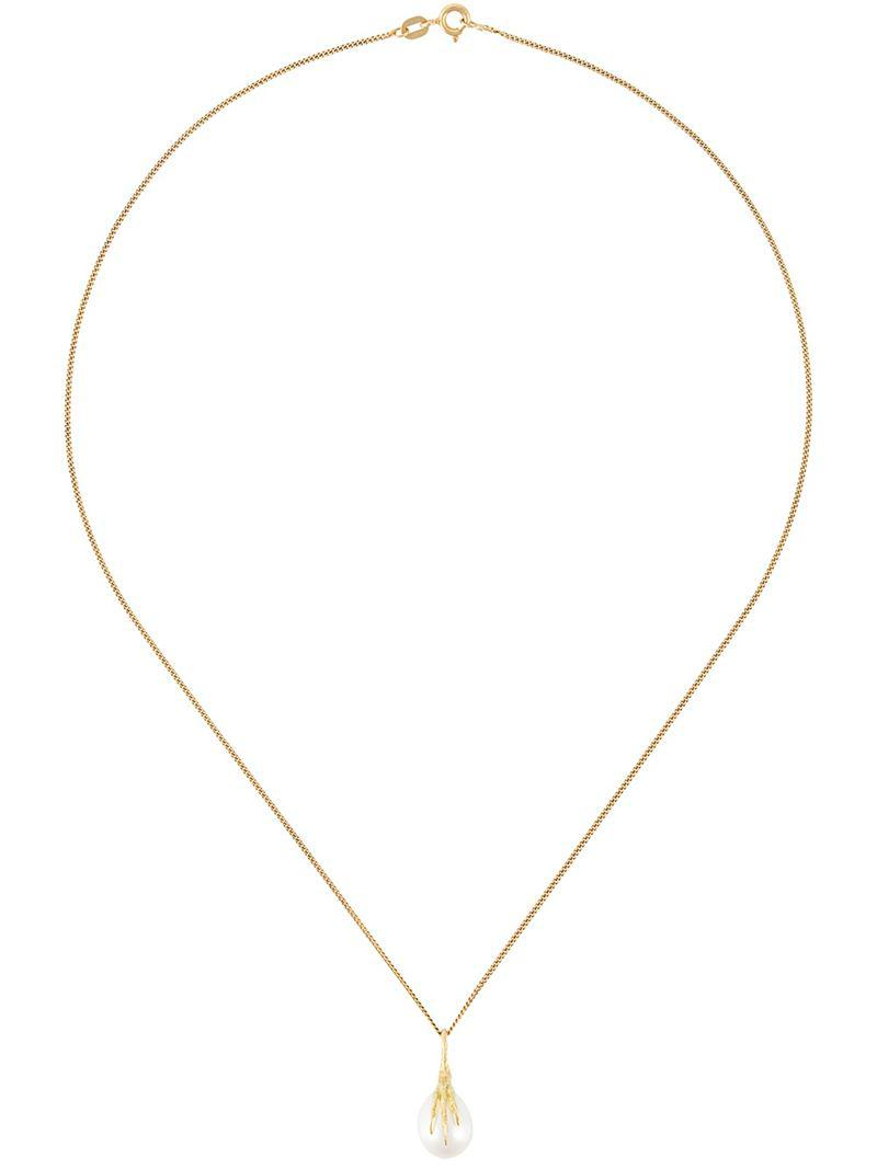 Wouters & Hendrix 18kt yellow gold Crows Claw rutilated quartz necklace - Metallic pVaod