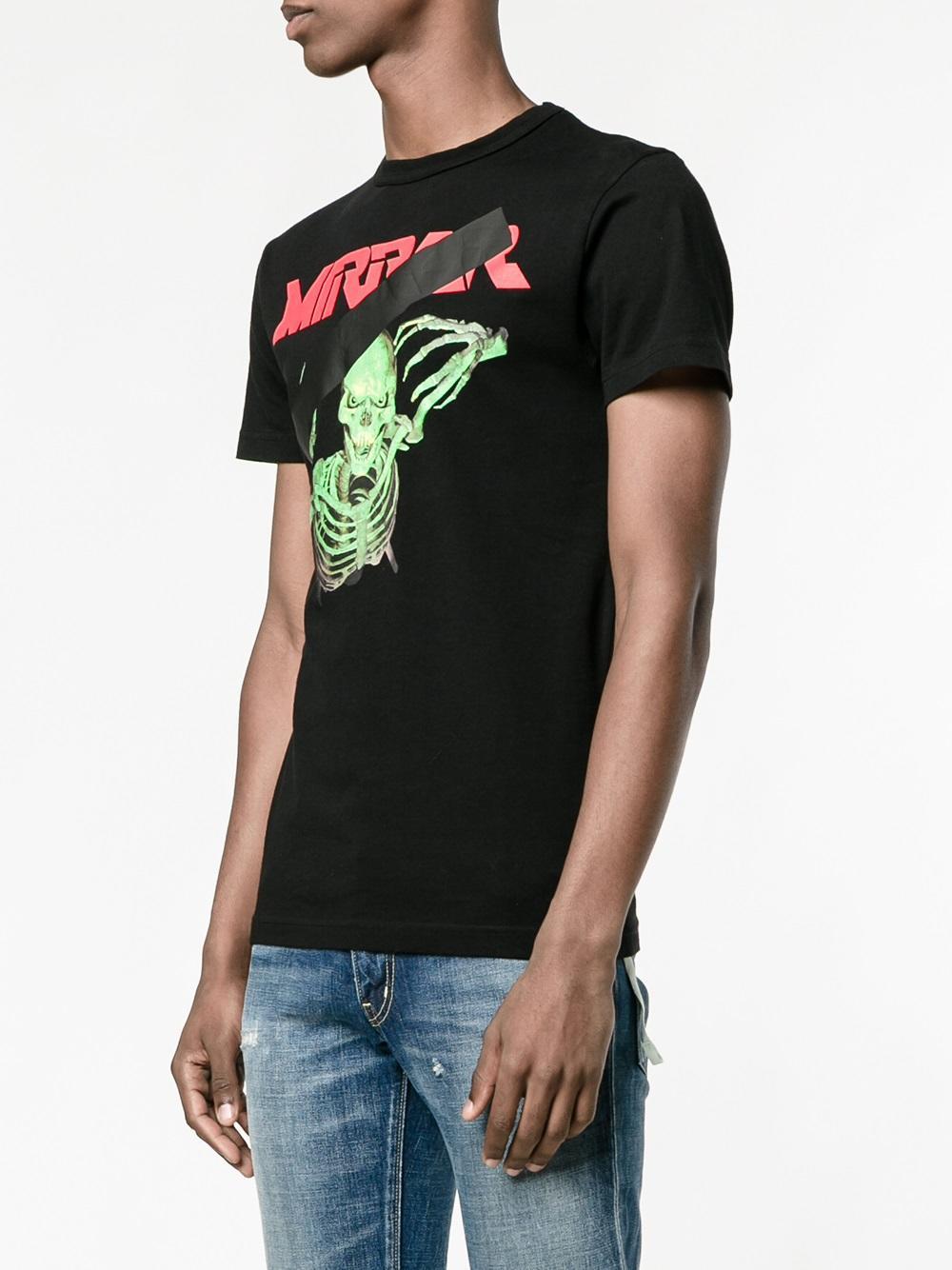 8b789653 Off-White c/o Virgil Abloh Skull Mirror T-Shirt in Black for Men - Lyst