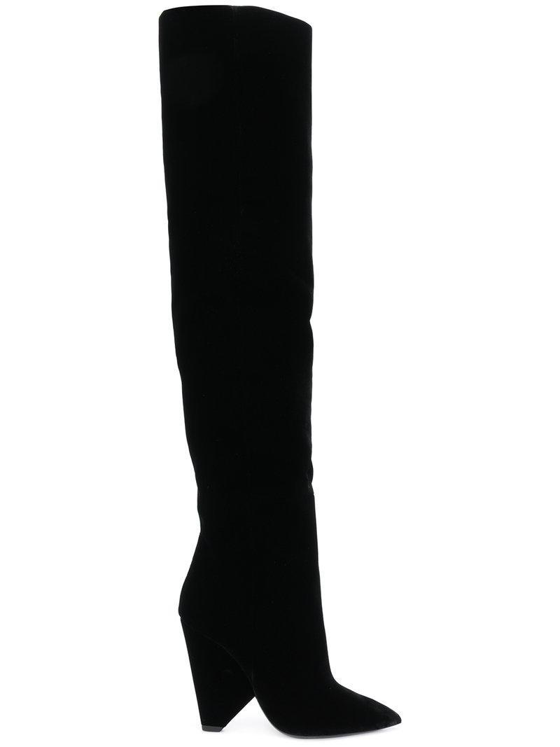 Lyst Laurent Coloris Saint En Niki 105 Cuissardes Noir HxnrwqfpHz
