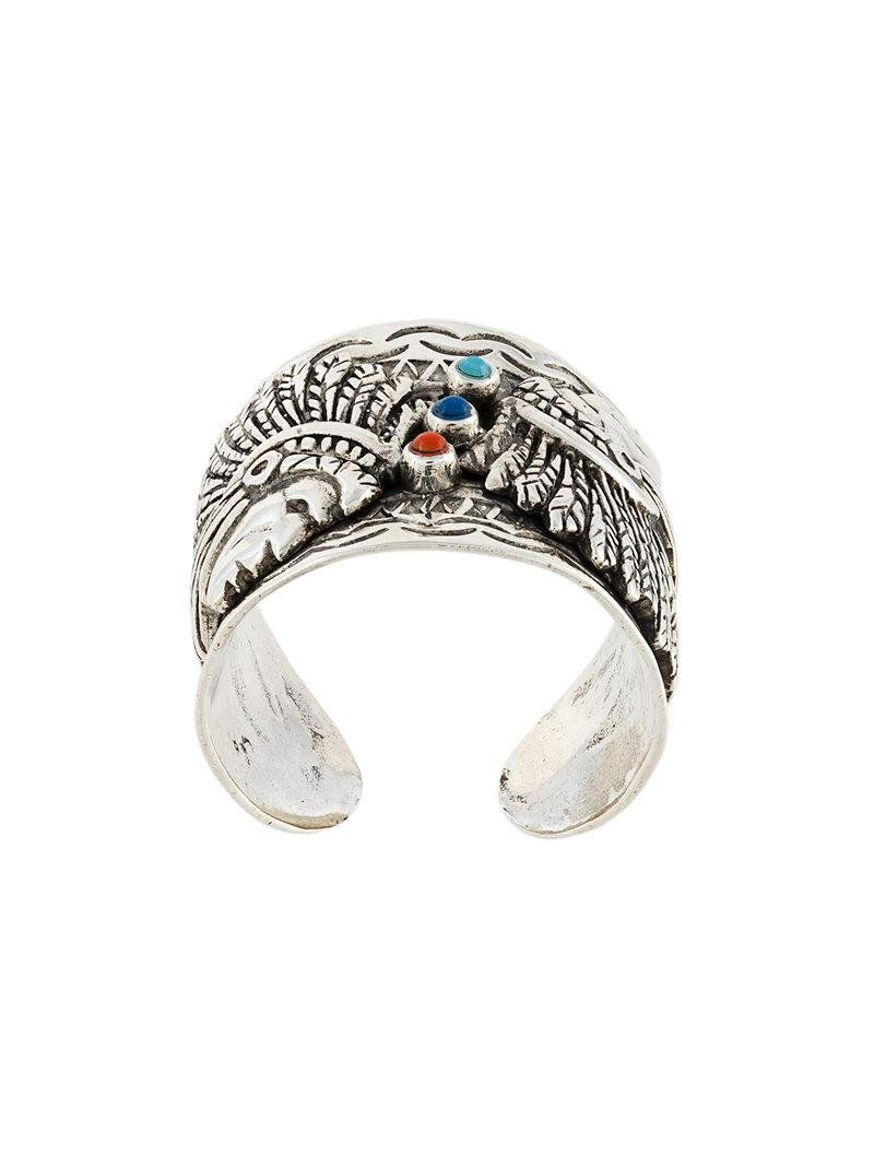 Gas Bijoux Ulla Scaramouche ring - Metallic