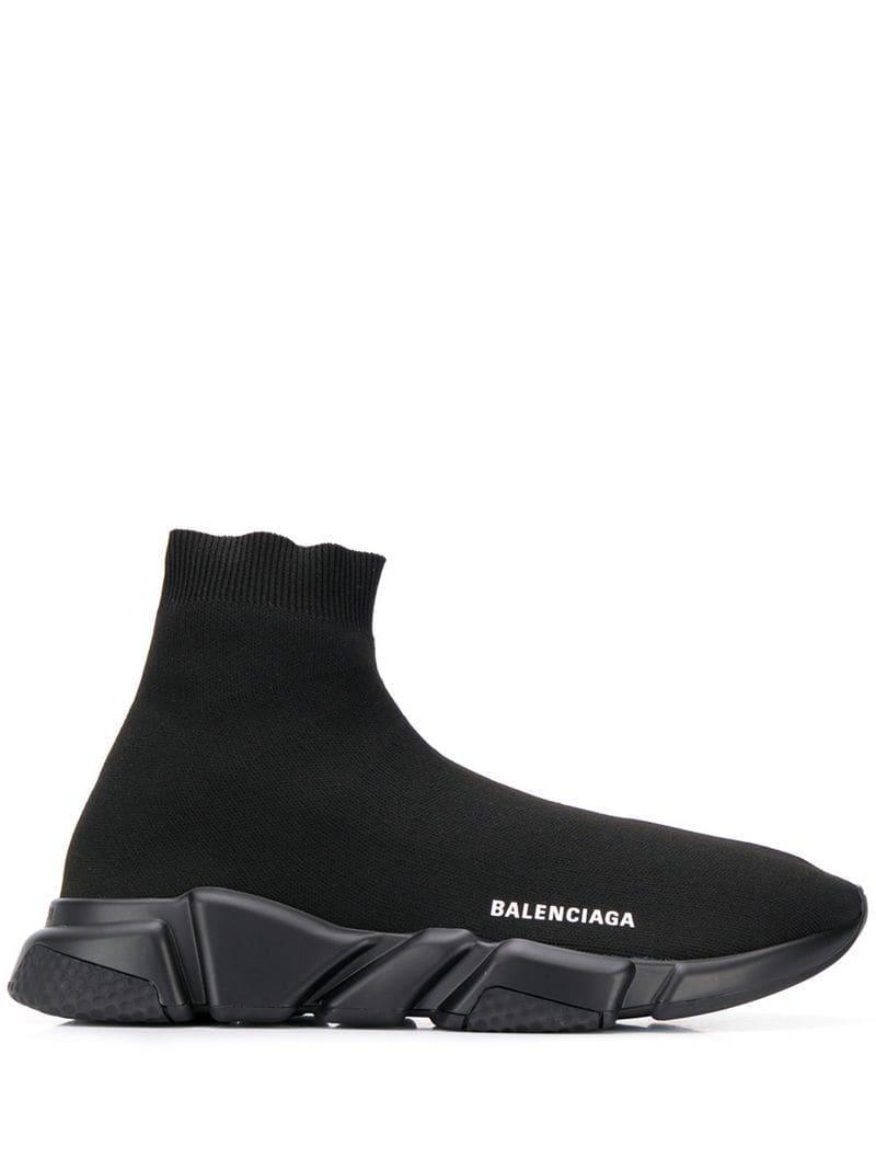 22988e42178 Lyst - Baskets noires Speed Balenciaga pour homme en coloris Noir ...
