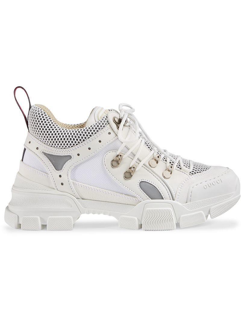 c2c2de542d7 Lyst - Baskets Flashtrek Gucci en coloris Blanc