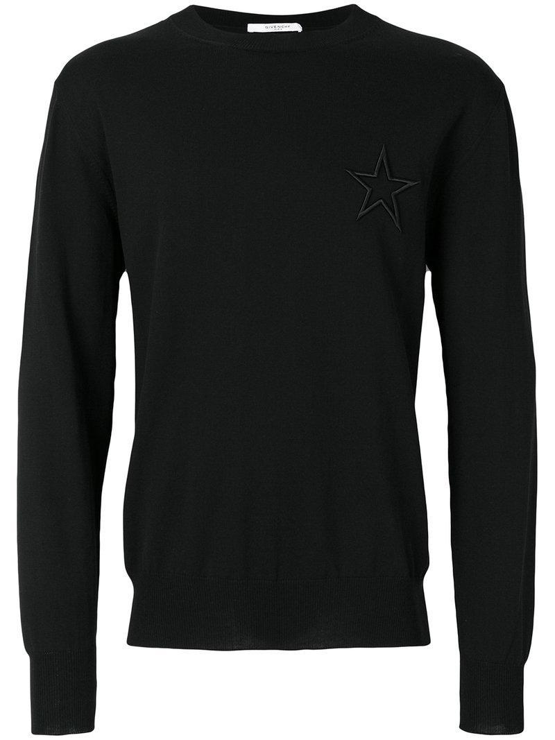c08feadc82d59 En Étoile Givenchy À Homme Brodée Coloris Pour Noir Pull Lyst x10qnwAw