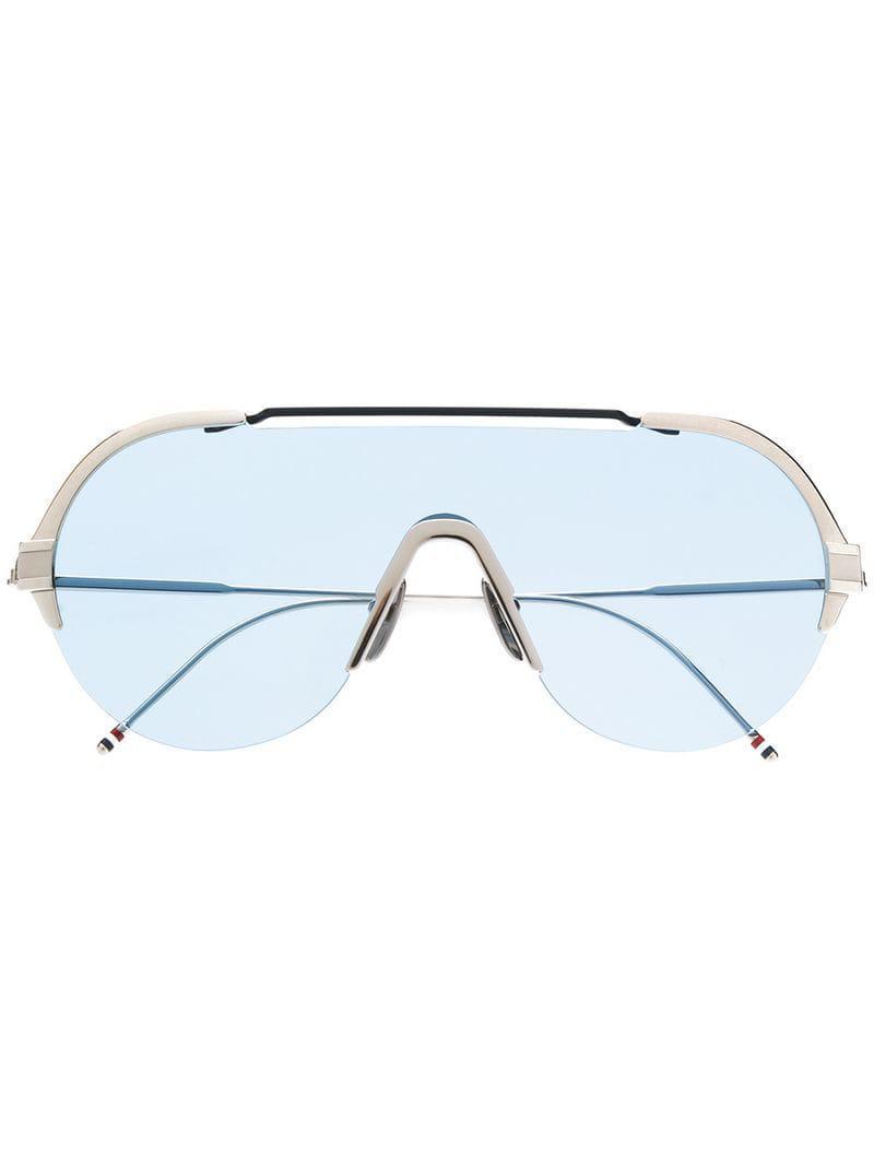 c0e41f98aec6 Thom Browne Silver   Navy Sunglasses in Metallic for Men - Lyst