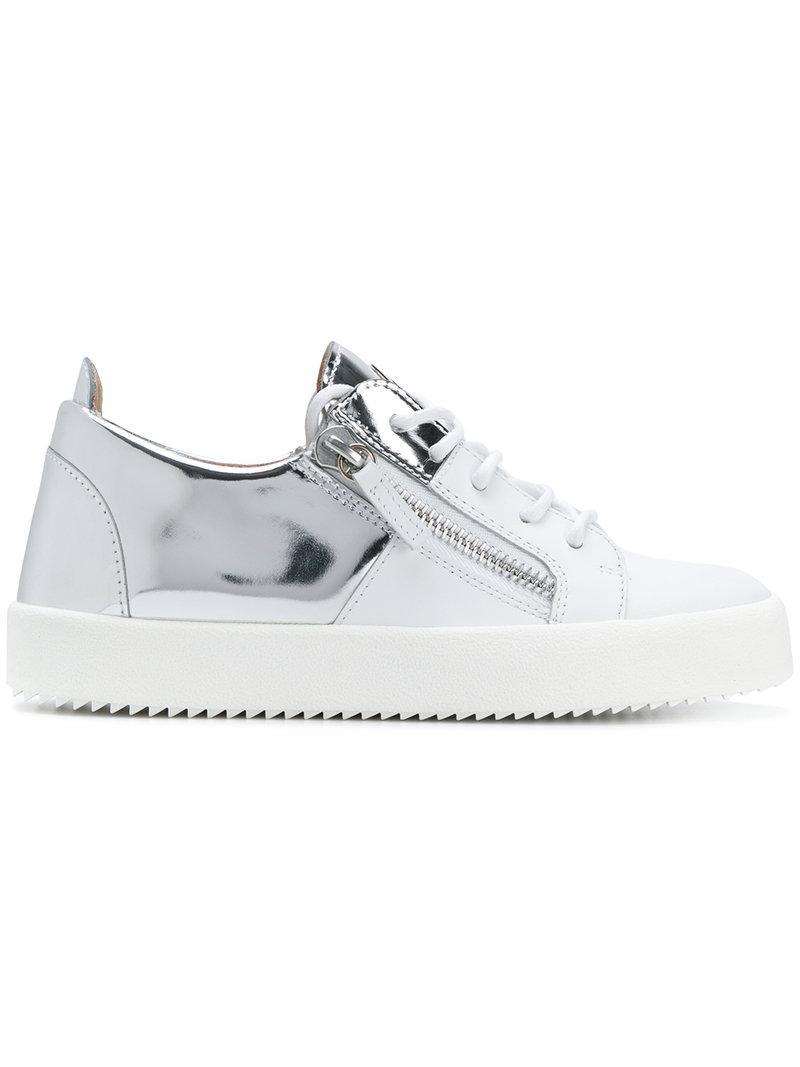 Double-panelled sneakers - Metallic Giuseppe Zanotti vC7KJ