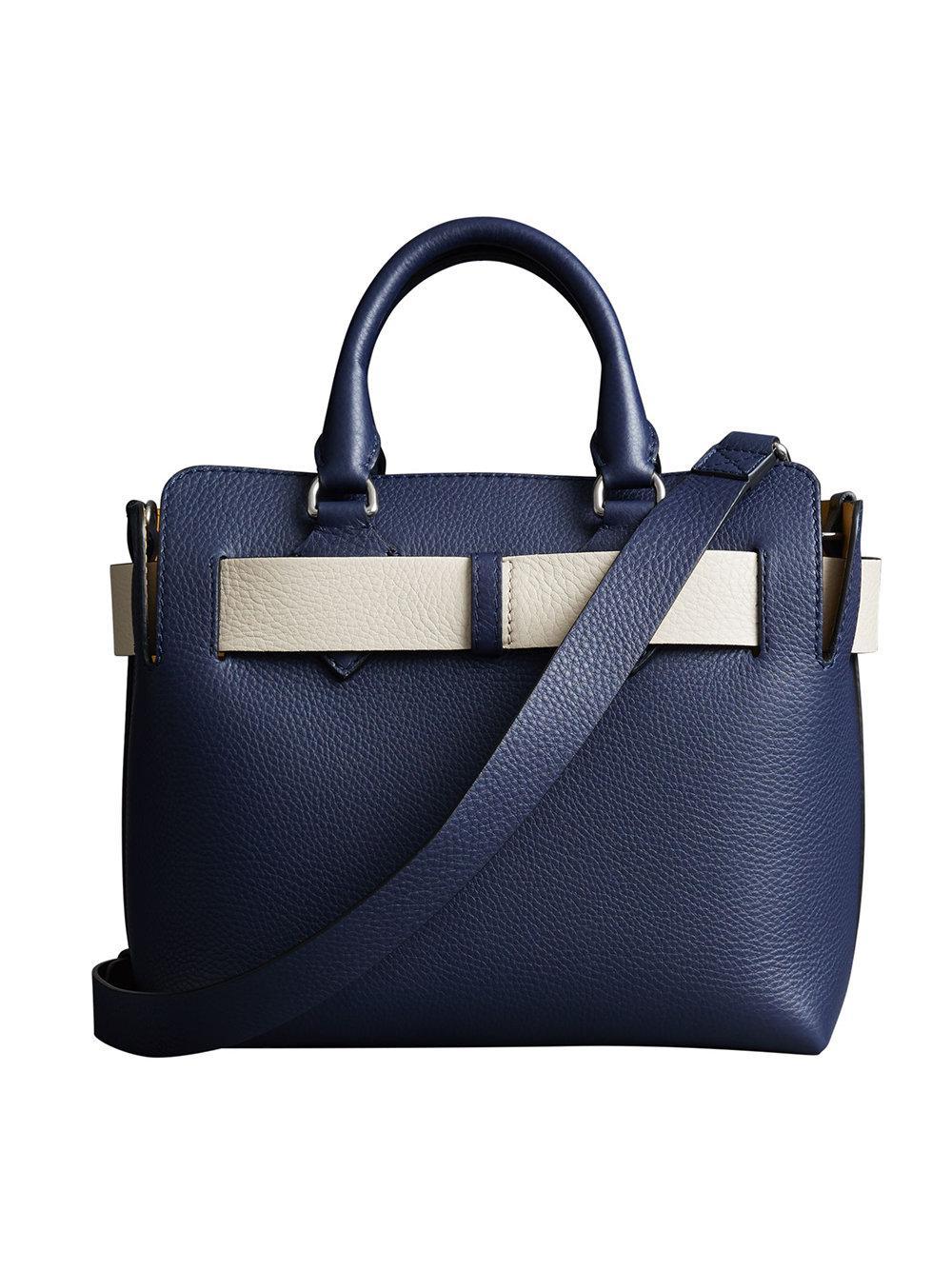 4d64d99f6d Burberry - Blue The Small Leather Belt Bag - Lyst. View fullscreen