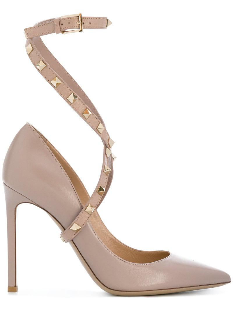 1a0760e2bac Valentino Garavani Studwrap Pumps in Pink - Save 12% - Lyst