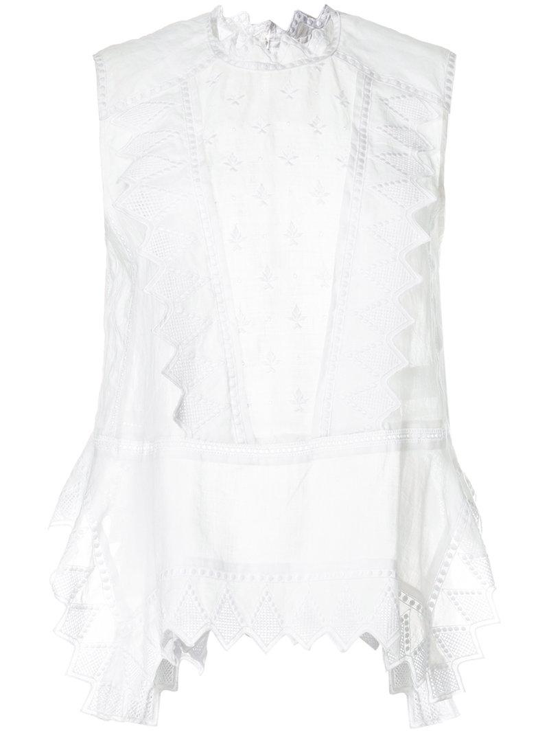 c8f72535c4466 Isabel Marant Nust Blouse in White - Lyst