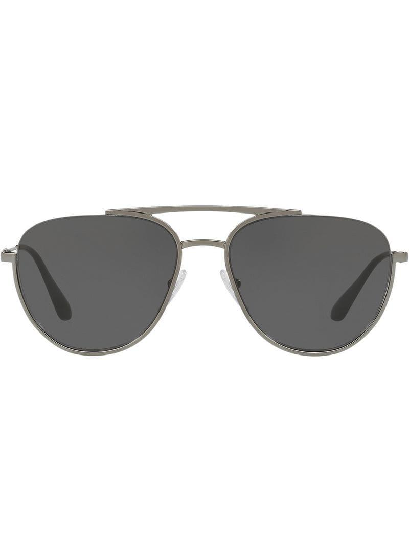 Lyst - Gafas de sol con montura estilo aviador Prada de hombre de ... 3bb3795c91e9