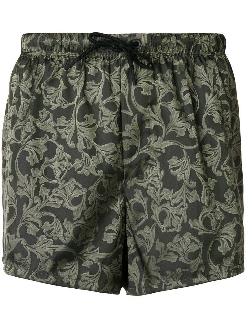 e8a20f44008 Lyst - Short de bain imprimé all-over Versace pour homme en coloris Gris