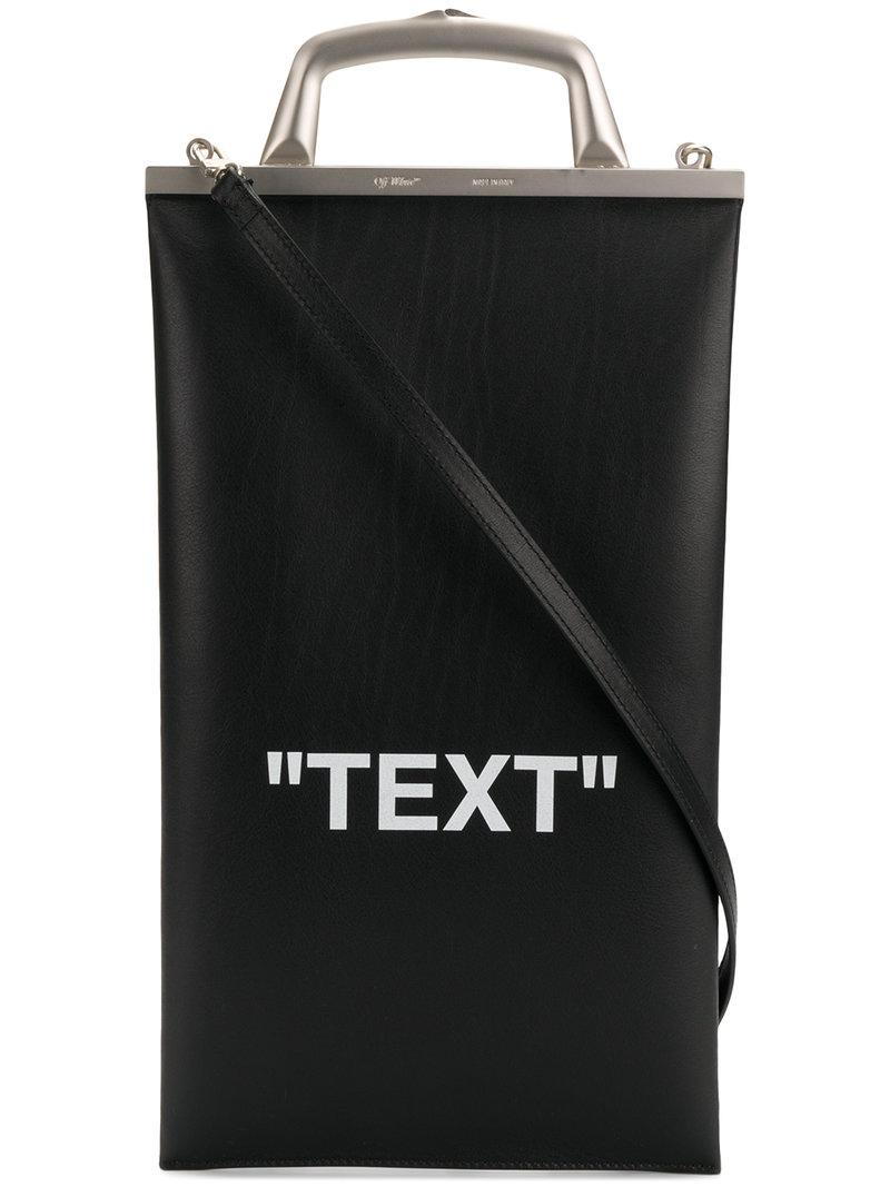 Off-White c o Virgil Abloh Text Market Tote Bag in Black - Lyst 81311f6c34548