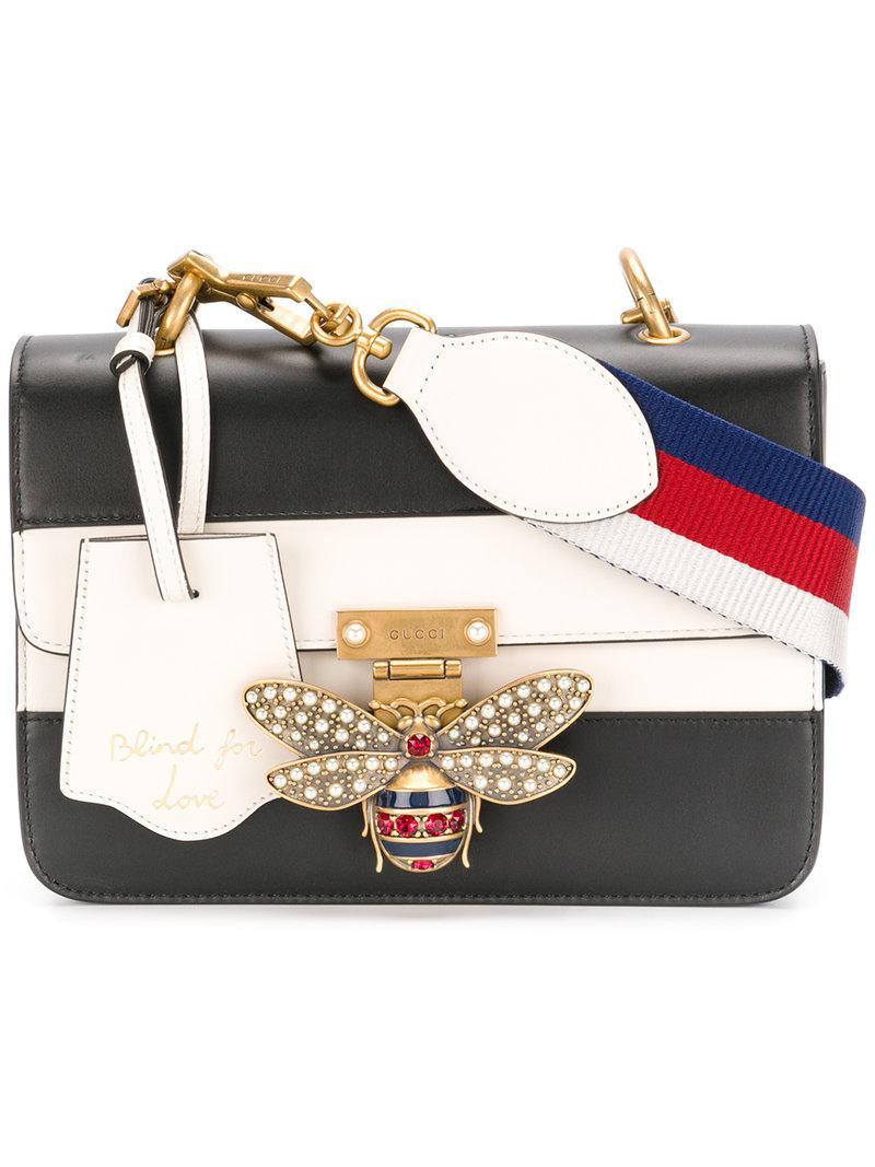 Lyst - Sac porté épaule structuré Gucci en coloris Noir 88f570da5ff