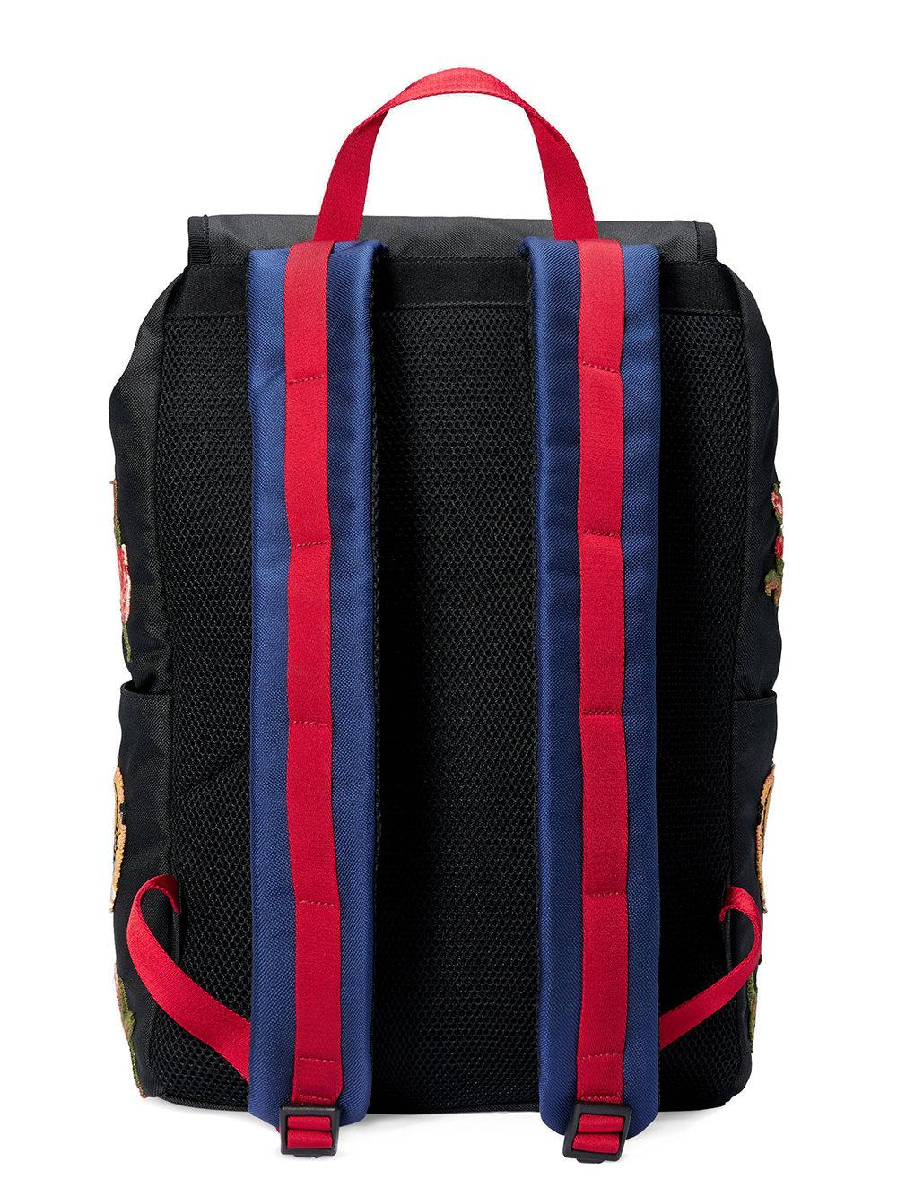 a911e57fc065 Gucci Embroidered Technical Canvas Backpack in Black - Lyst