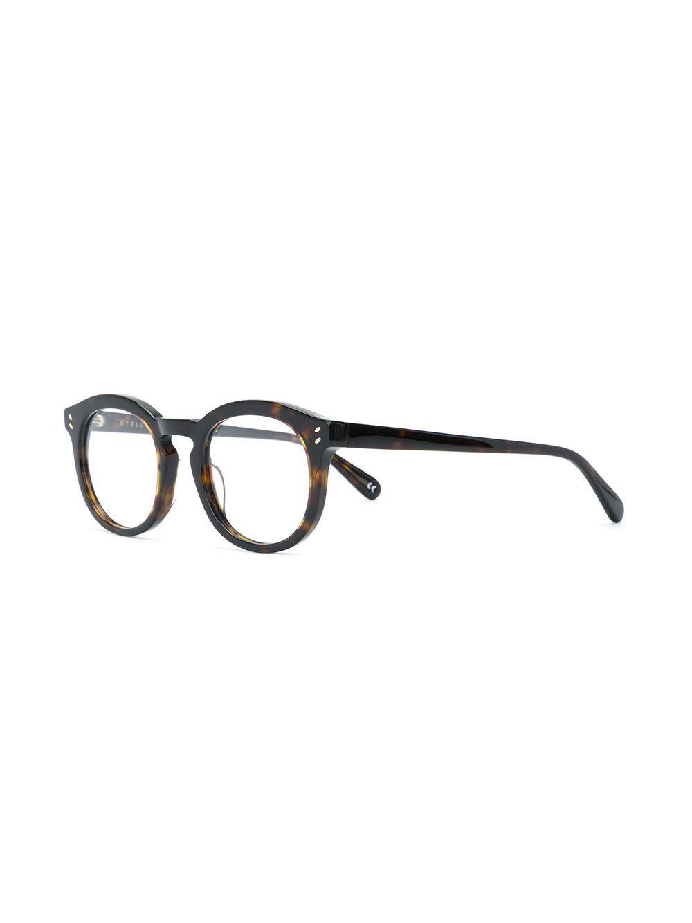 d22a5443cf Stella McCartney - Black Round Frame Glasses - Lyst. View fullscreen