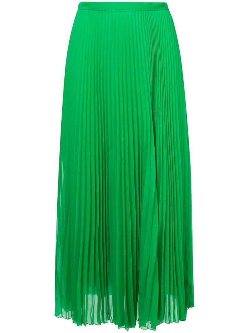 d9899d13ff Marco De Vincenzo - Green Pleated Midi Skirt - Lyst. View fullscreen