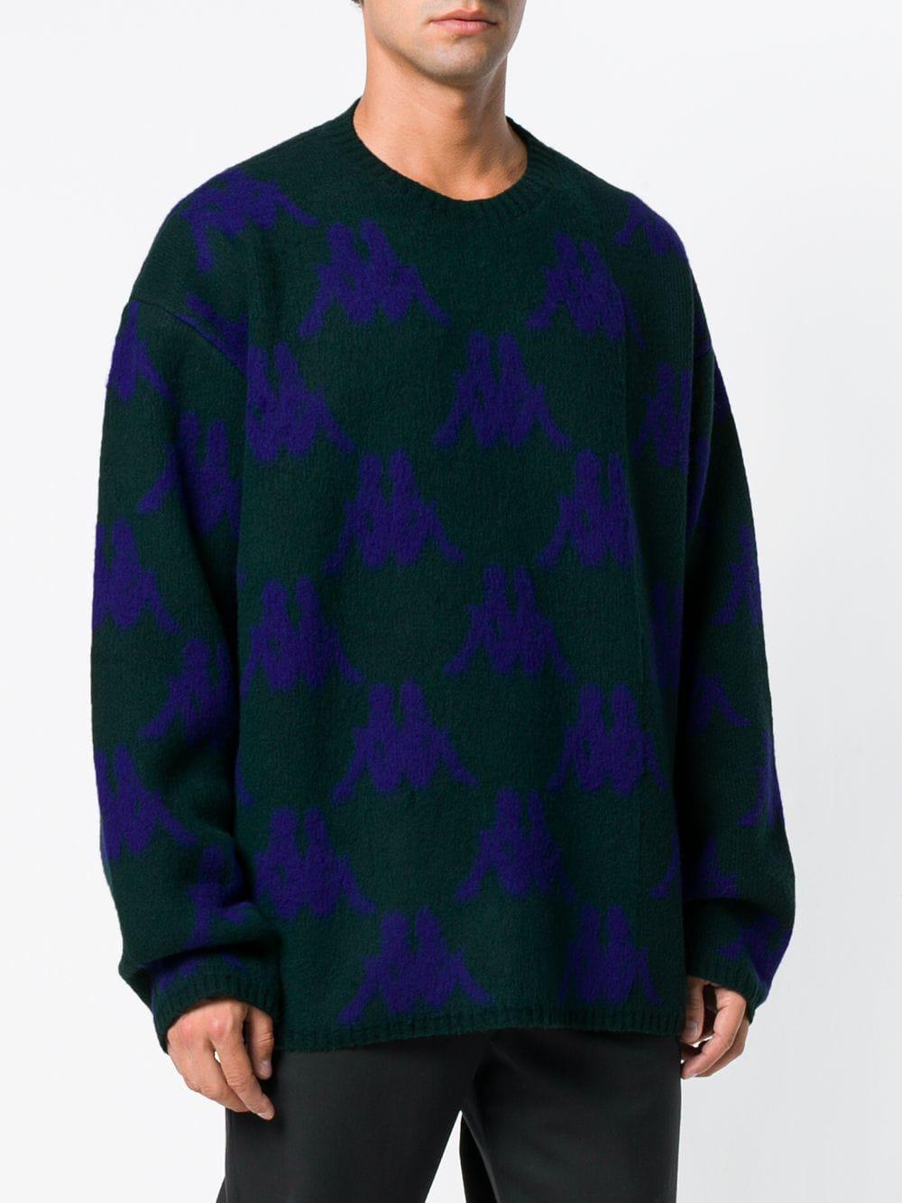 f312893e9 kappa-Green-Danilo-Paura-X-All-over-Logo-Sweater.jpeg
