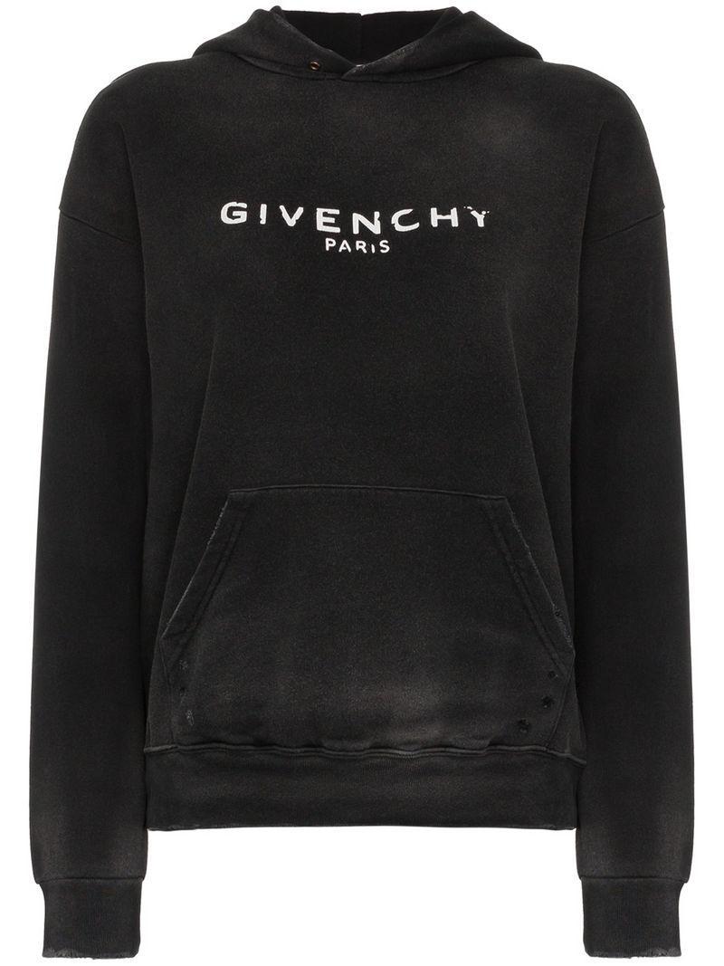 b994fb168c1 Givenchy - Black Sweat à logo et effet usé - Lyst. Afficher en plein écran