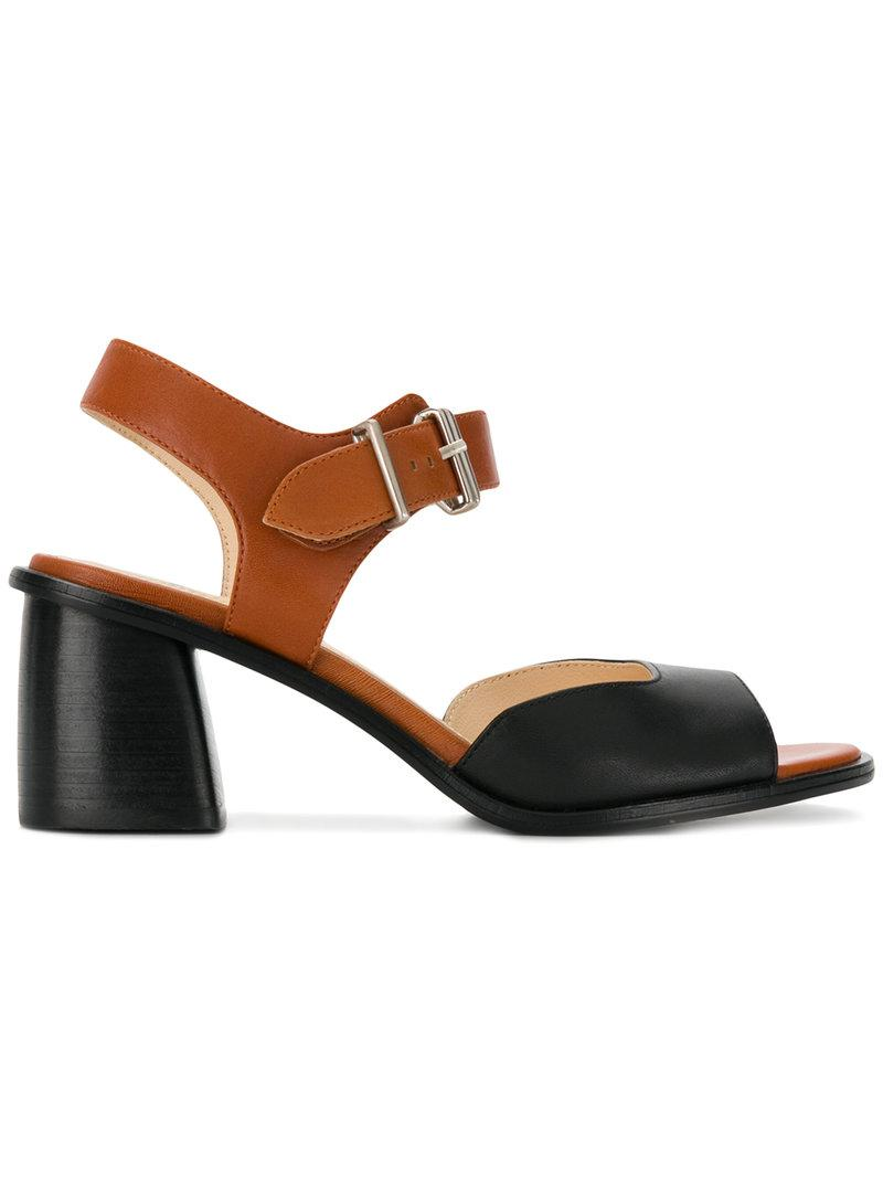 Jil Sander Patent Leather Ankle-Strap Sandals cheap sale low price fee shipping KPmVE
