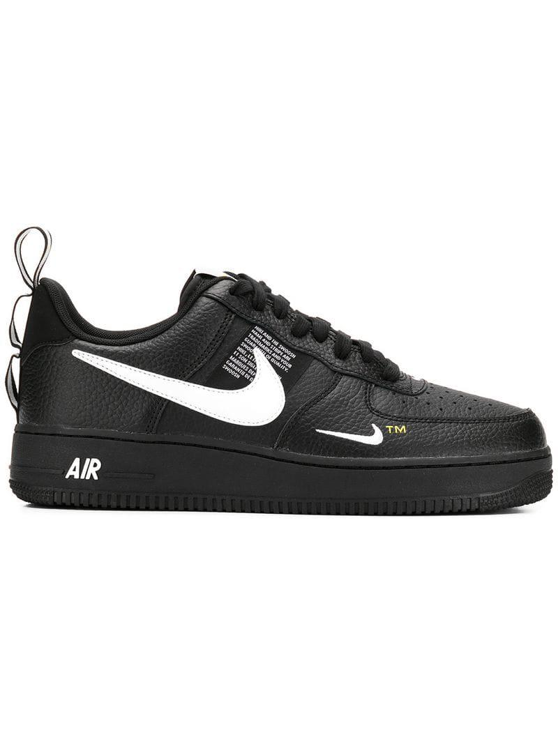 info for 4c29d d99a8 Nike Air Force 1 Low Top Sneakers in Black for Men - Lyst