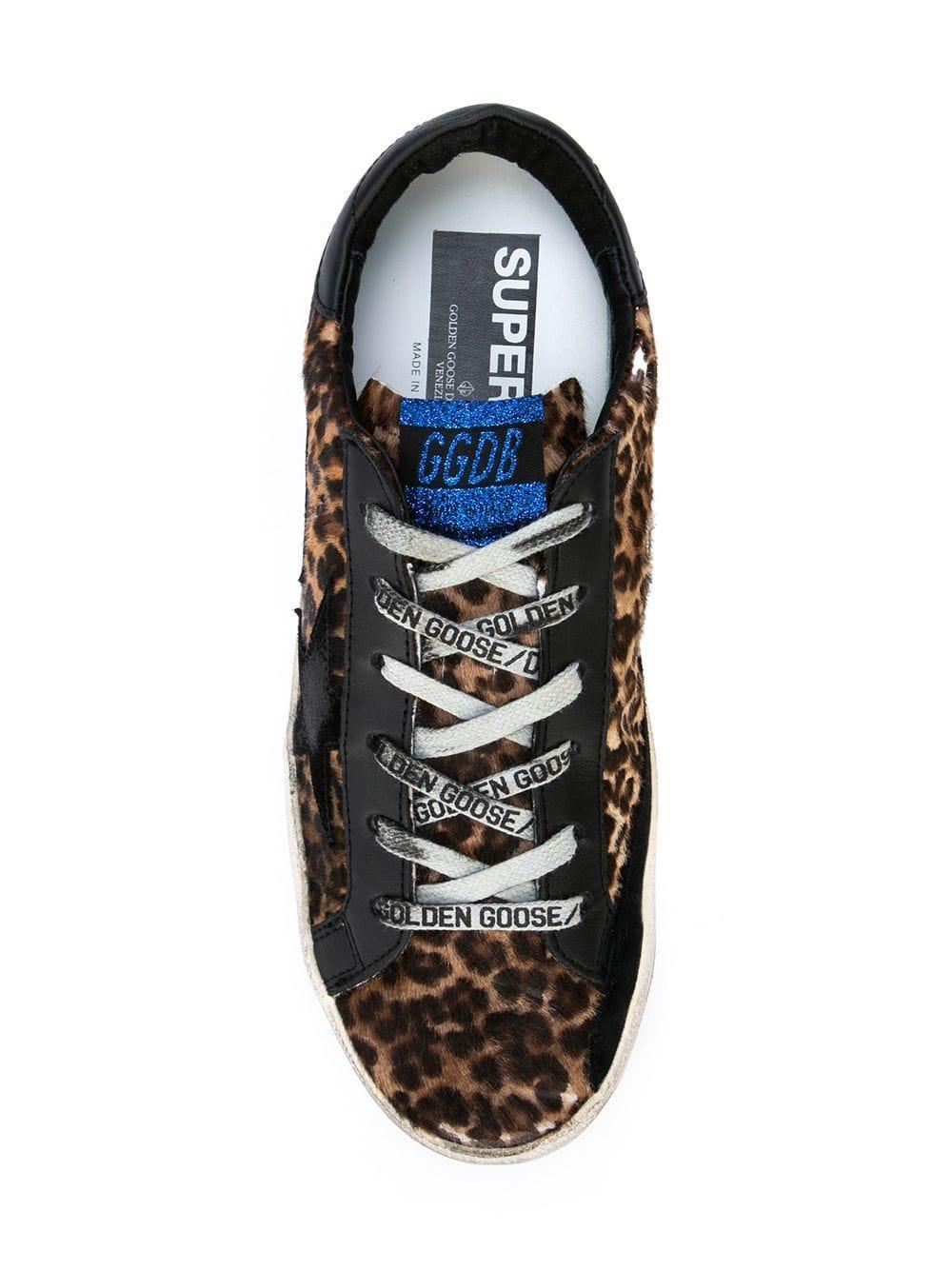 f8c97917d0e48 Golden Goose Deluxe Brand - Multicolor Distressed Leopard Print Sneakers -  Lyst. View fullscreen