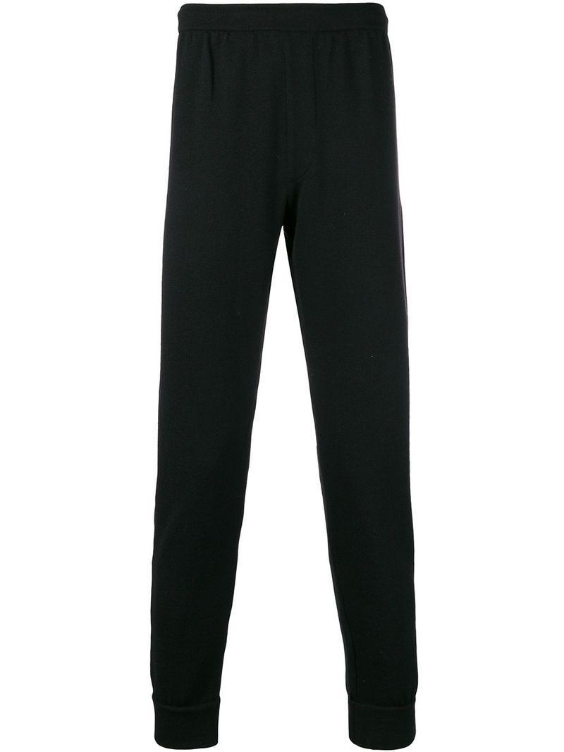 Lyst - High waisted track pants Prada pour homme en coloris Noir 99223786fdb