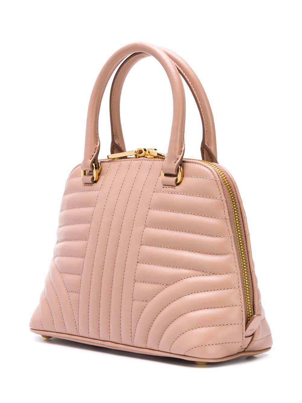 67862ce73f95 Prada Mini Diagramme Tote Bag in Pink - Lyst