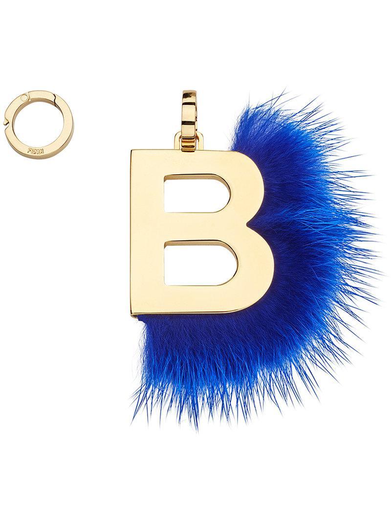 Fendi ABClick U pendant charm - Blue RHd145