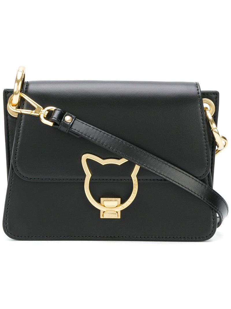 Lyst Karl Lagerfeld Cat Lock Cross Body Bag In Black