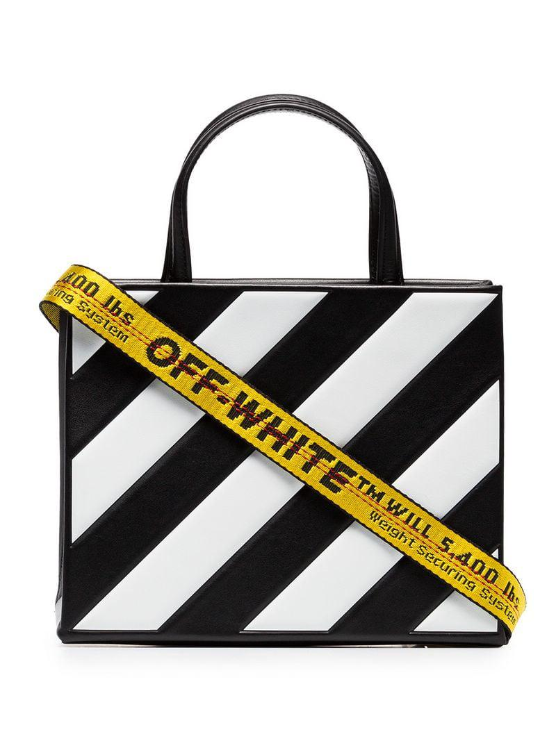 Off-White c o Virgil Abloh. Women s Black And White Diagonal Tote Bag By 48223a9fabaa6