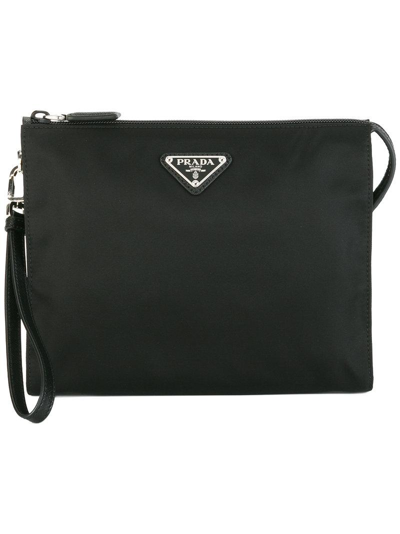 Prada - Brand Embellished Clutch Bag - Men - Nylon - One Size in ... 108ac877d7e92