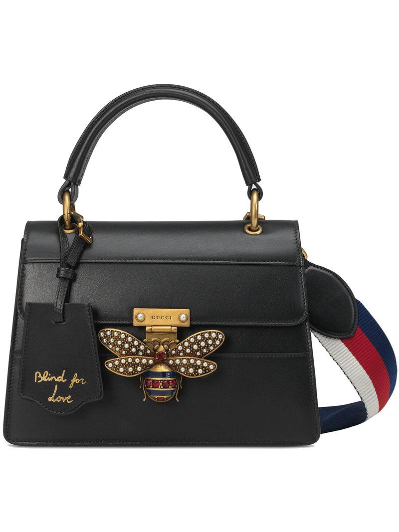 93ab52fb791 Lyst - Gucci Queen Margaret Small Top Handle Bag in Black
