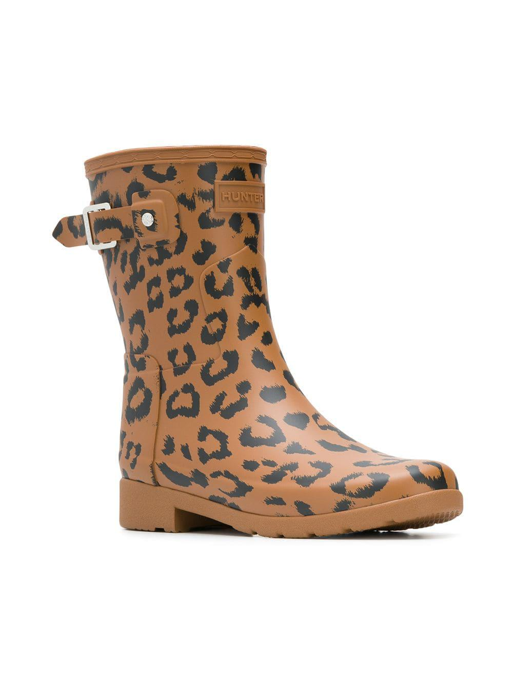 À Motif Hunter Marron Léopard Bottines vCXwd5qv