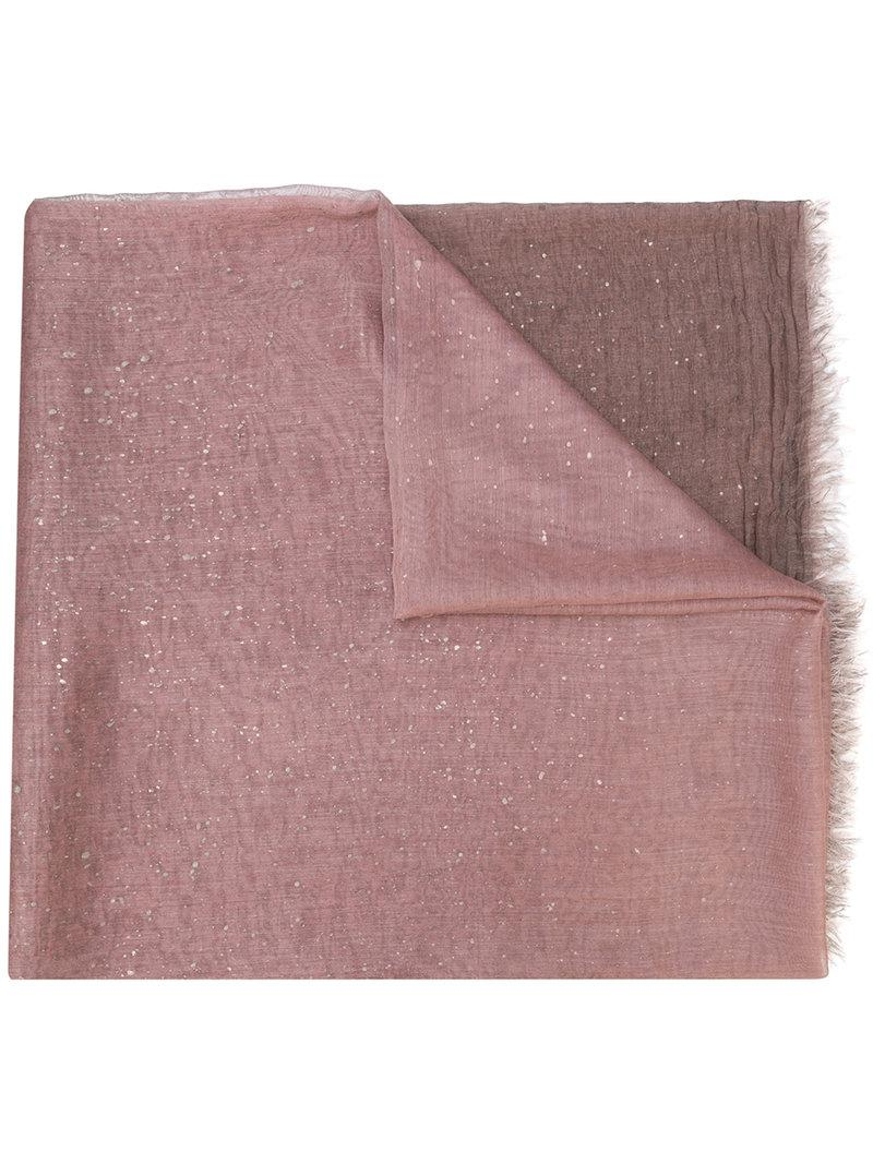 New Bongo applique scarf - Pink & Purple Faliero Sarti ytFsgP