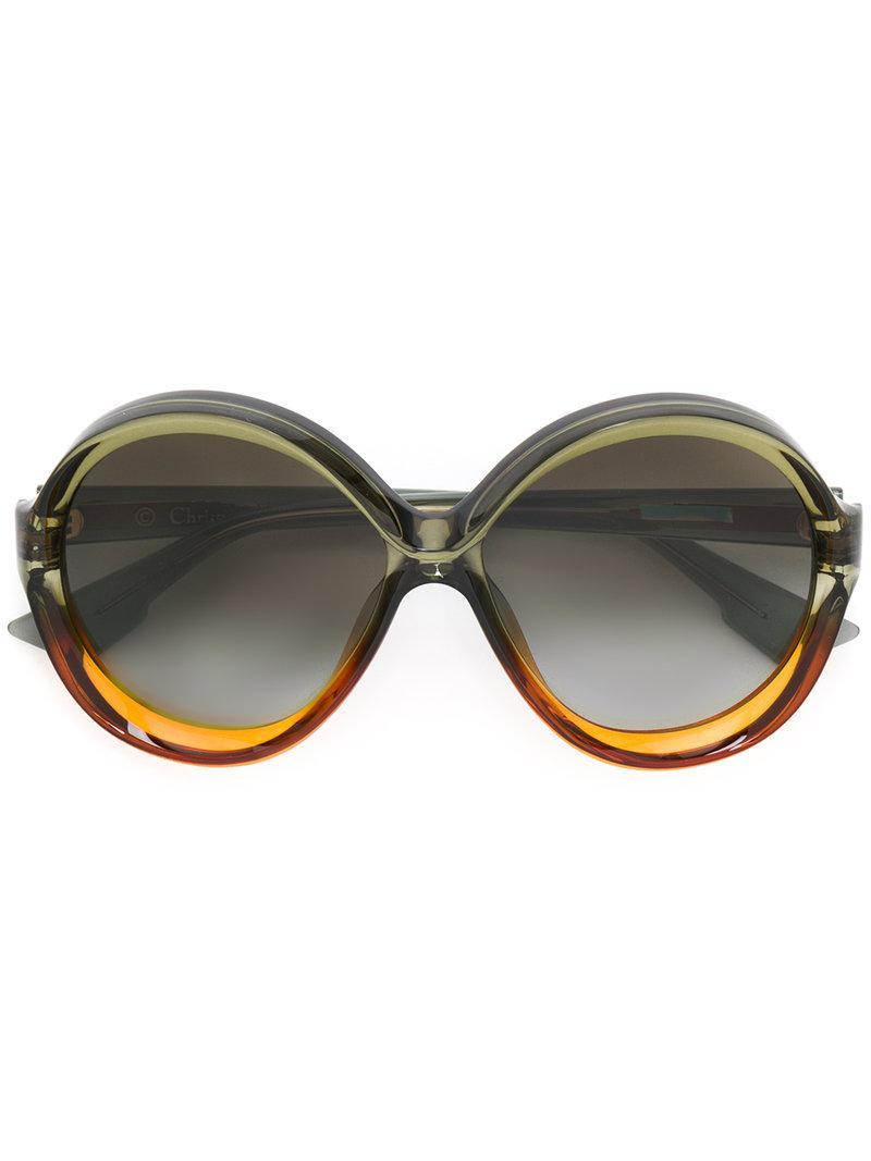 oversized round frame sunglasses - Green Dior aWT9ik
